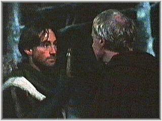 Robert and Derek Jacobi as son and father in Cadfael